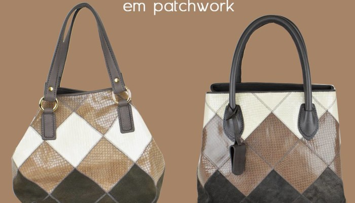 Bolsas em patchwork no outlet virtual Drizza